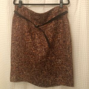 TALBOTS NWT tweed pencil skirt with belt